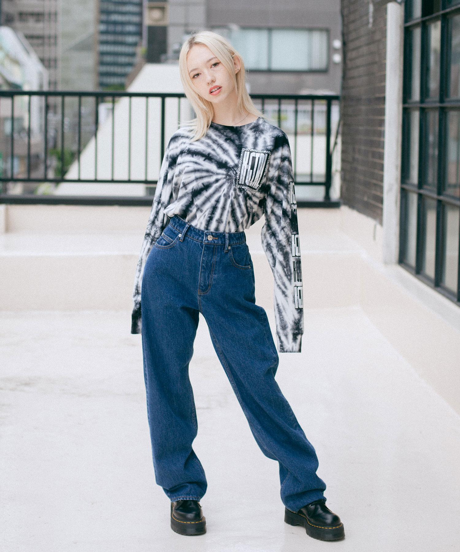 【公式】X-girlエックスガールBOXLOGOSLEEVEPRINTL/STEETシャツトップスロングスリーブレディース