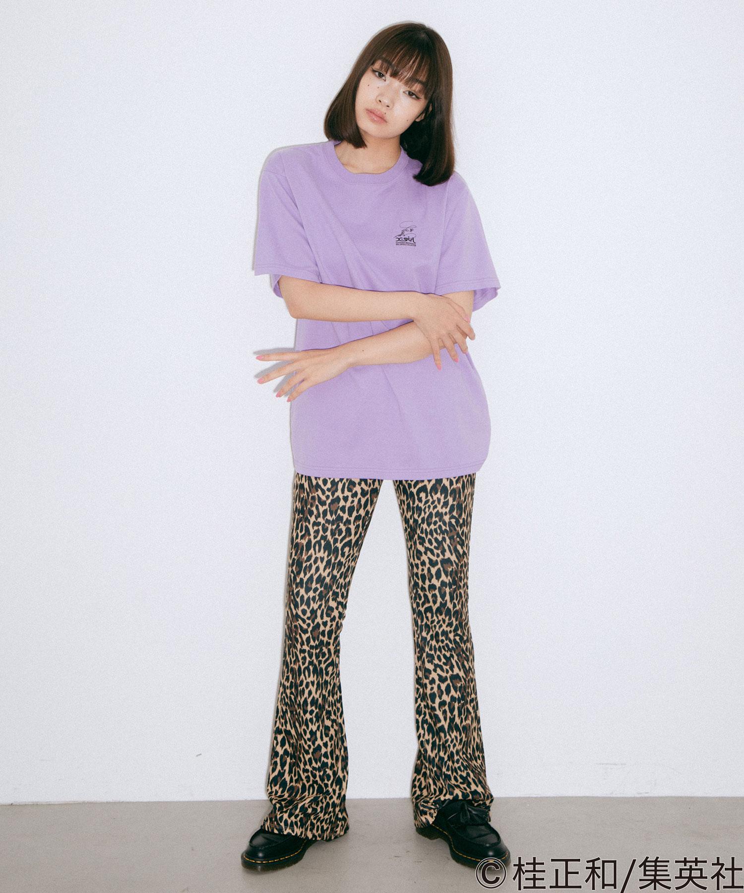 """【公式】X-girlエックスガールX-girl×KATSURAMASAKAZUI""""sSCENES/STEETシャツトップスプリントロゴショートスリーブコラボ"""