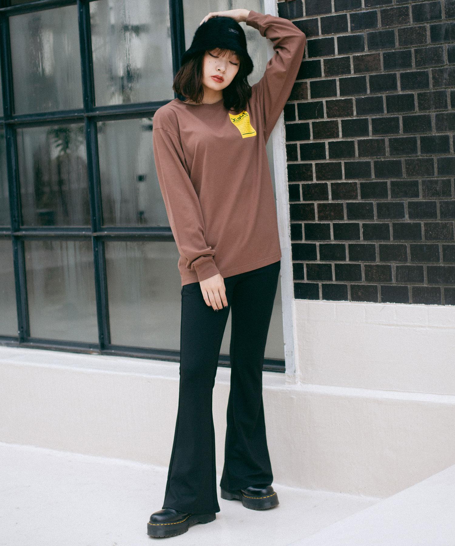【公式】X-girlエックスガールWORDSFACEL/STEETシャツトップスプリントロゴロングスリーブレディース