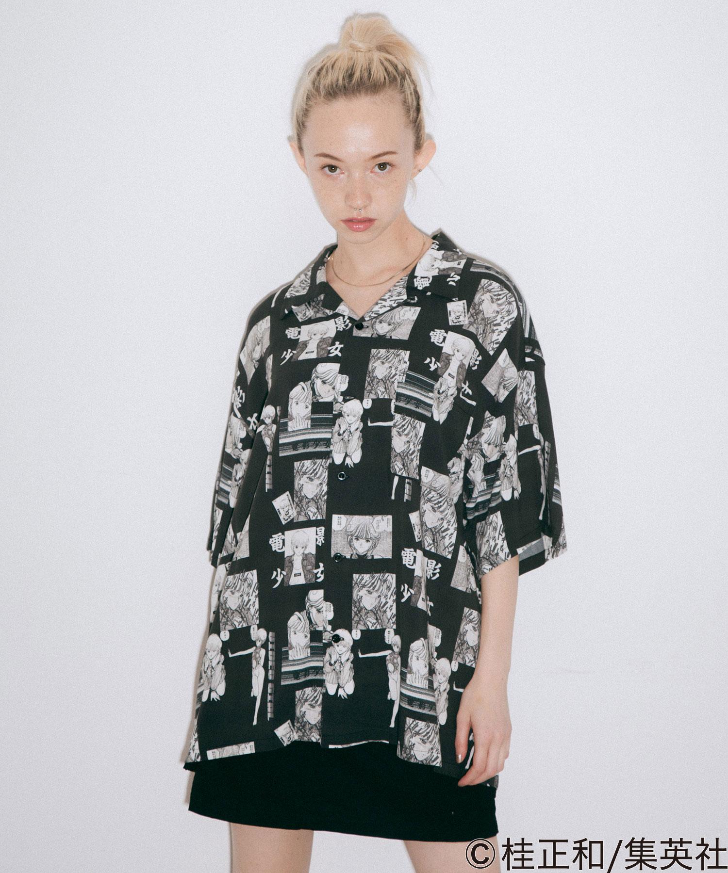 【公式】X-girlエックスガールX-girl×KATSURAMASAKAZUALOHASHIRTシャツアロハシャツトップスコラボレディース