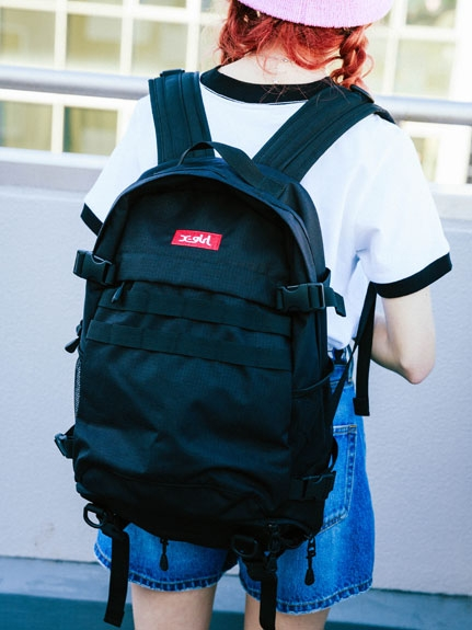 X-girl(エックスガール)ADVENTURE BACKPACK BOX LOGO