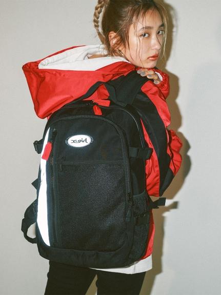 X-girl(エックスガール)MESH POCKET BACKPACK