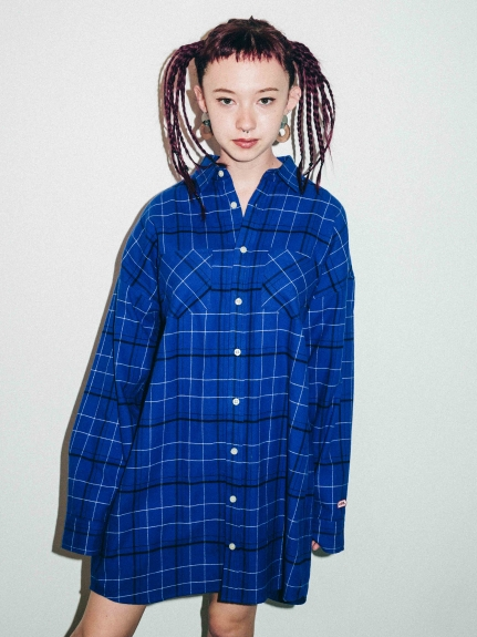 X-girl(エックスガール)SUPER BIG PLAID SHIRT
