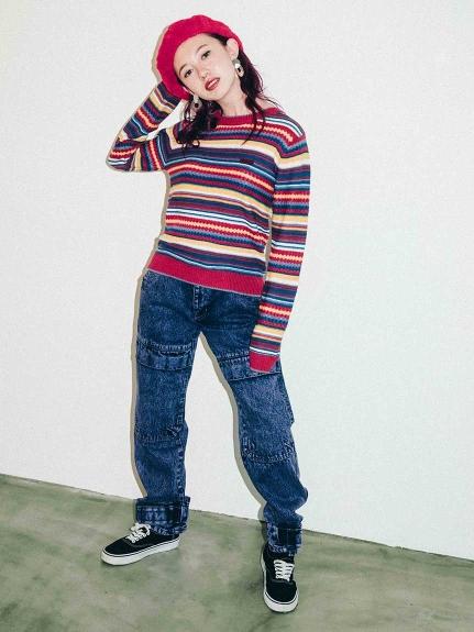 X-girl(エックスガール)DENIM CARGO PANTS