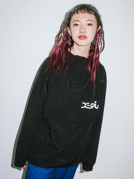 X-girl(エックスガール)【WEB限定】NYLON ANORAK EC