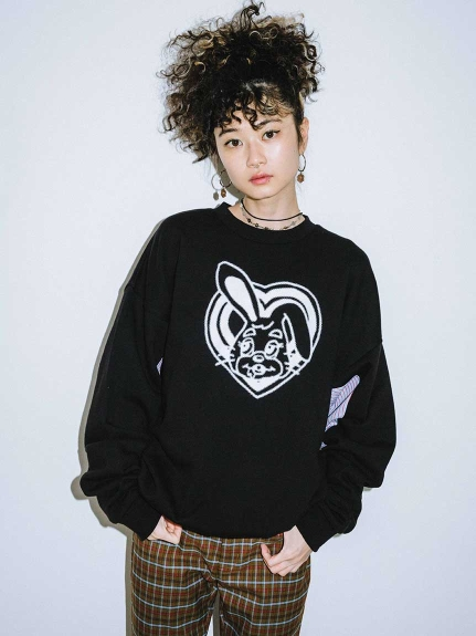 X-girl(エックスガール)BUZZED BUNNY L/S SWEAT TOP