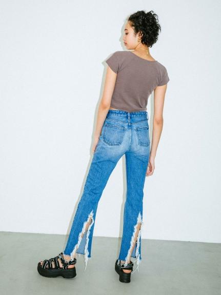 X-girl(エックスガール)BACK SLIIT PANTS