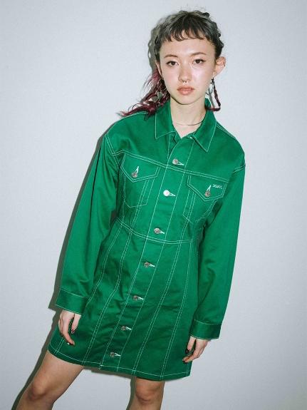 X-girl(エックスガール)TRUCKER DRESS
