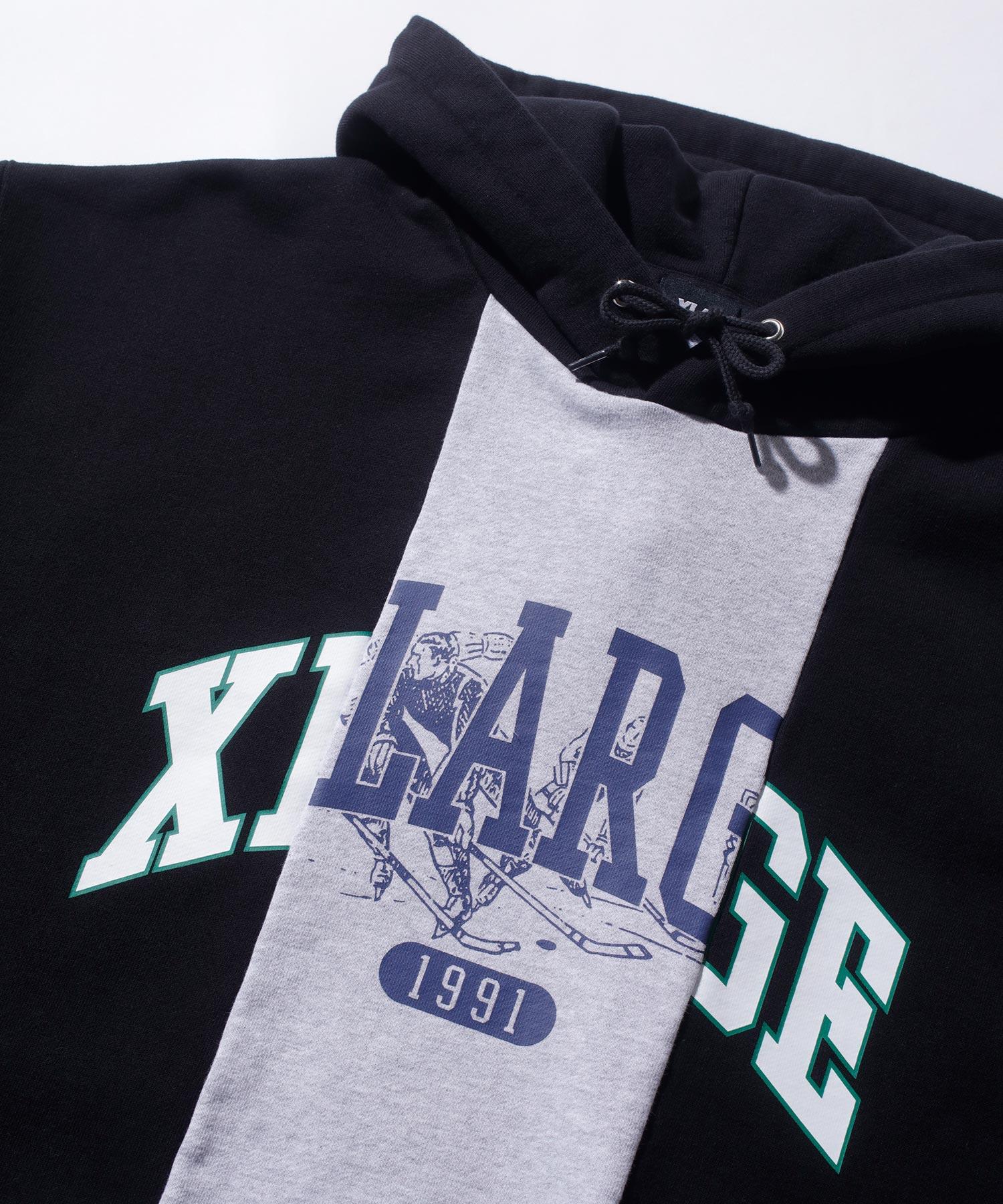 【公式】XLARGEエクストララージPATCHWORKPULLOVERHOODEDSWEATパーカープルオーバーフードトップスロゴメンズユニセックス