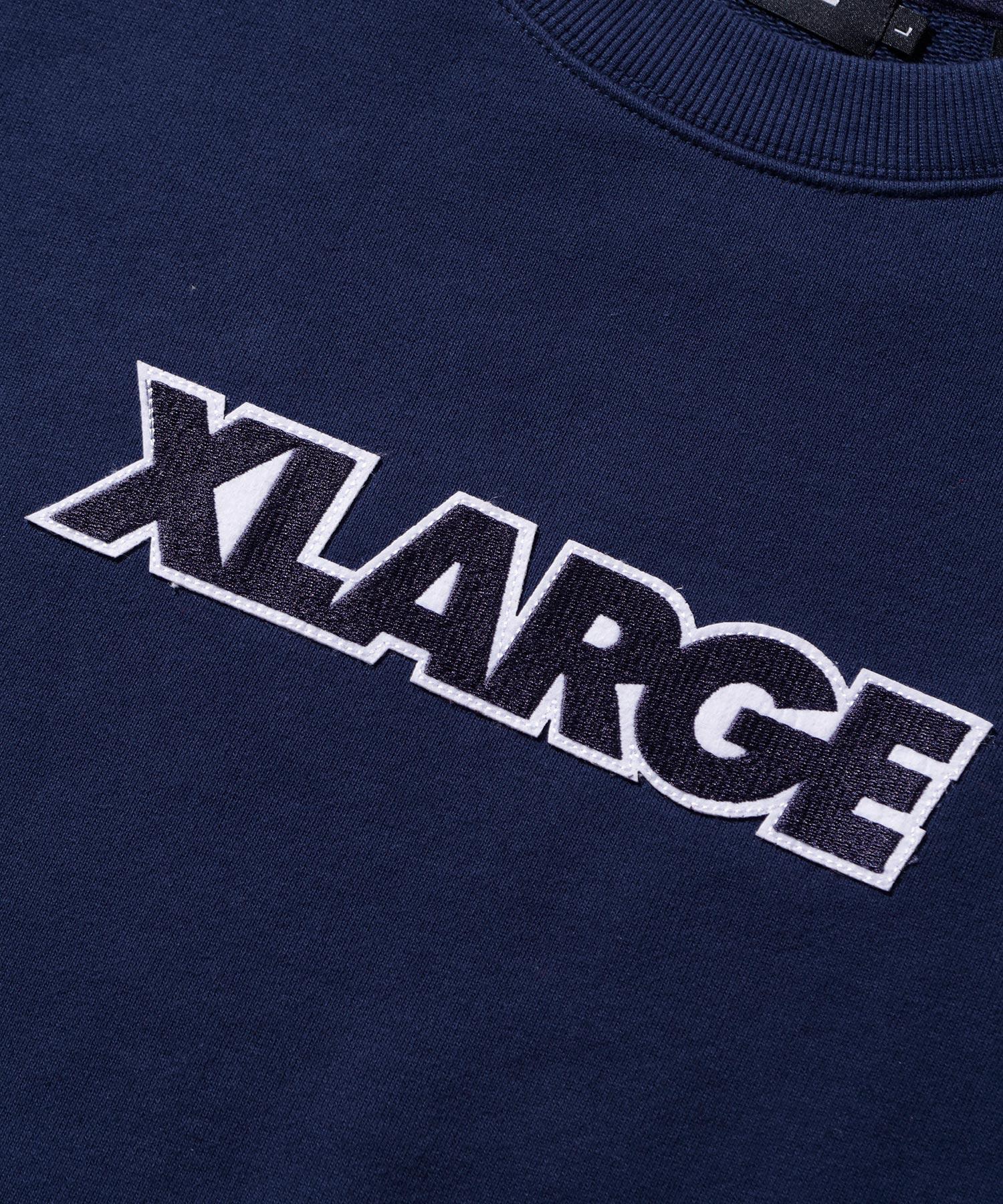 【公式】XLARGEエクストララージSTANDARDLOGOPATCHEDCREWNECKSWEATスウェットトップスロゴクルーネックメンズ
