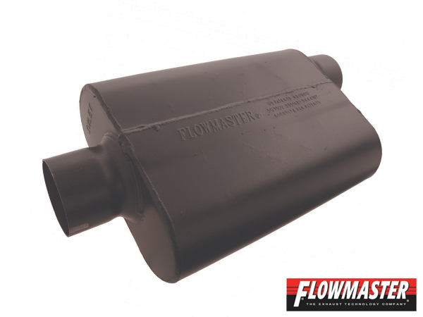 FLOW MASTER スーパー 44 マフラー - 3.00 Center In / 3.00 Offset Out - Aggressive Sound