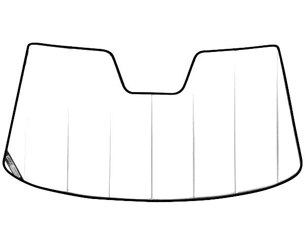 【専用設計】CoverCraft製/UVS100 サンシェード/日除け(ホワイト) プレミア Audi アウディ A8 (D4)/S8 カバークラフト MADE IN USA