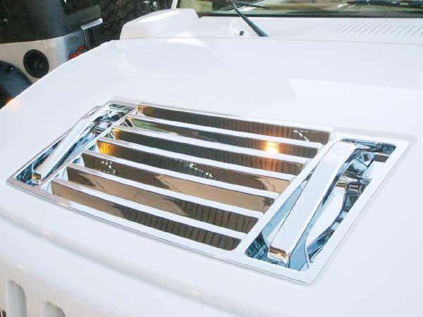 ハマー H2 クロームボンネットフードパネル&ハンドル(ABS)