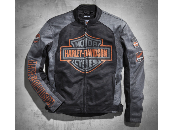Harley-Davidson / ハーレーダビッドソン バー&シールドロゴ・メッシュ・ライディングジャケット(L)