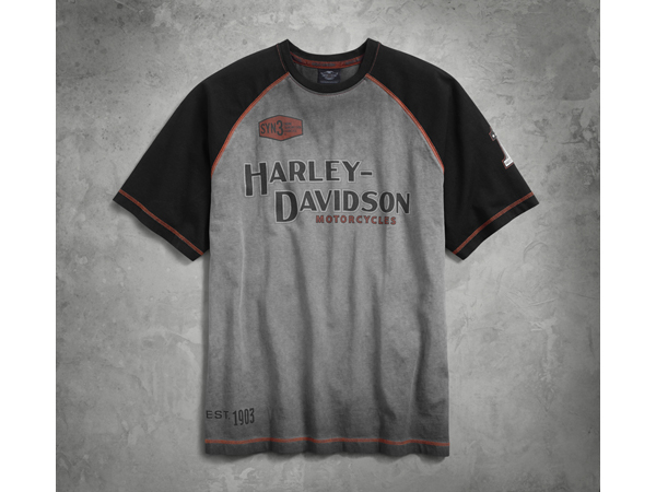 Harley-Davidson / ハーレーダビッドソン アイアンブロック・ラグランTシャツ(M)