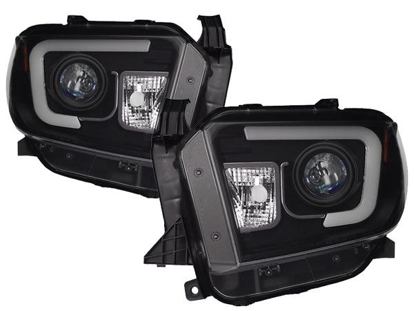 2014y- トヨタ タンドラ プロジェクターヘッドライト(ブラック) DRL/日本仕様