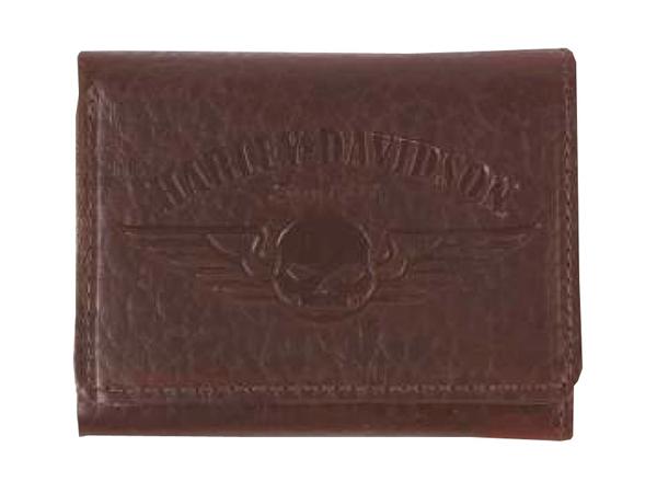 Harley-Davidson / ハーレーダビッドソン 三つ折り財布/ウォレット(スカルロゴ/ブラウン)