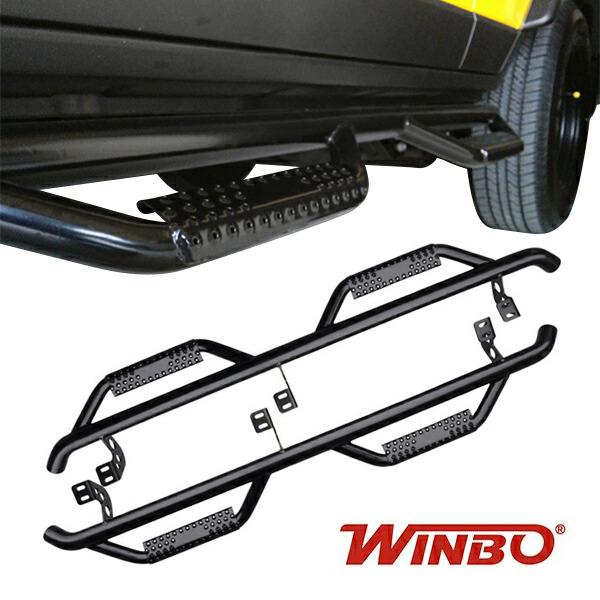 WINBO製 2007y- トヨタ FJクルーザー トレイルバー サイドステップ(ブラック)