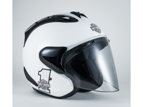 Harley-Davidson / ハーレーダビッドソン スポーツナンバーワン3/4ヘルメット(ホワイト)(M)