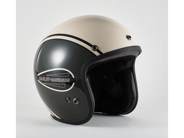 Harley-Davidson / ハーレーダビッドソン クラシックレトロタンク3/4ヘルメット(グリーン×オフホワイト)(L)