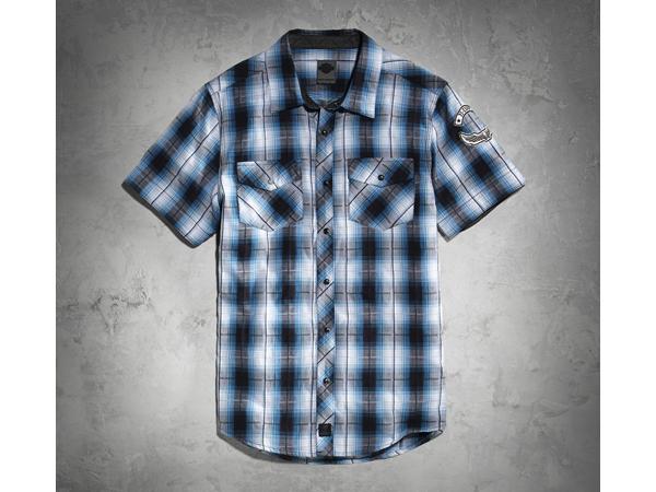 Harley-Davidson / ハーレーダビッドソン フロントスナップ・プレイドシャツ(S)