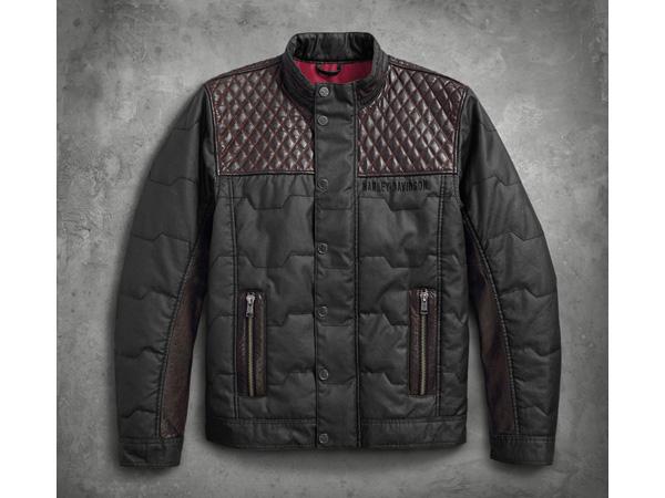Harley-Davidson / ハーレーダビッドソン キルテッドレザーアクセント・ジャケット(L)