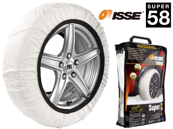 ISSE スノーソックス 布製 タイヤチェーン SUPER 58 135/80R14 145/70R14 145/80R14 155/65R14 155/70R14 165/65R14 オートソック