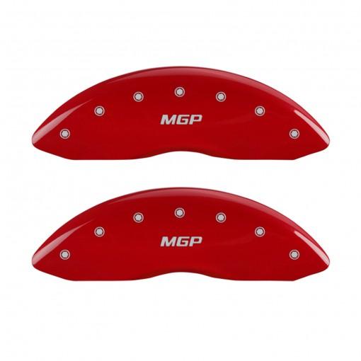 MGP ブレーキキャリパーカバー(MGPロゴ/レッド) 12162 /11-16y ダッジ チャージャー、ダッジ チャレンジャー