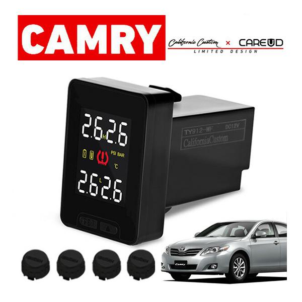 [Limited Design] トヨタ カムリ ACV40,45系 空気圧モニタリングシステム TY912 (ブラックセンサー) ワイヤレス 空気圧モニター/TPMSモニター