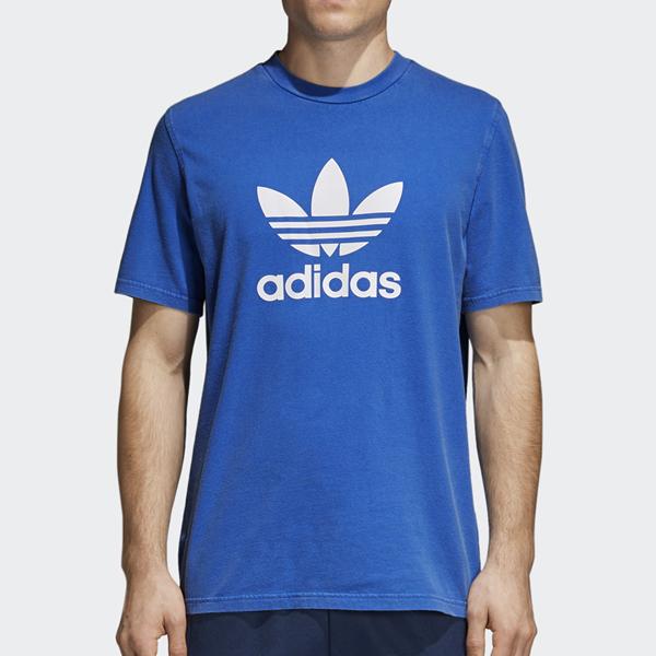 adidas Originals Trefoil Tee | Blue | Short sleeved | CW0703