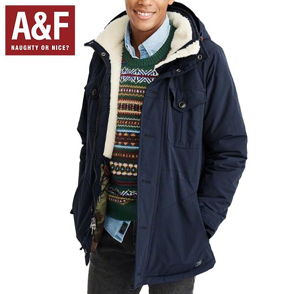 Abercrombie & Fitch アバクロンビーアンドフィッチ正規品メンズアウタージャケット ナイロン マウンテンパーカーMens Sherpa-Lined Trekking Parka紺132-327-0512-200インポートブランド海外買い付け正規[1218]