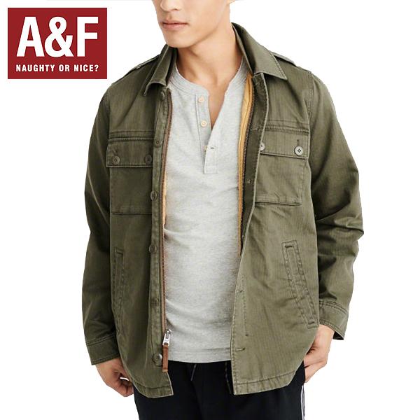 Abercrombie & Fitchアバクロンビーアンドフィッチ正規品メンズミリタリージャケット キルティングアウターMens Military Shirt Jacket中綿132-327-0493-330インポートブランド海外買い付け正規[1218]