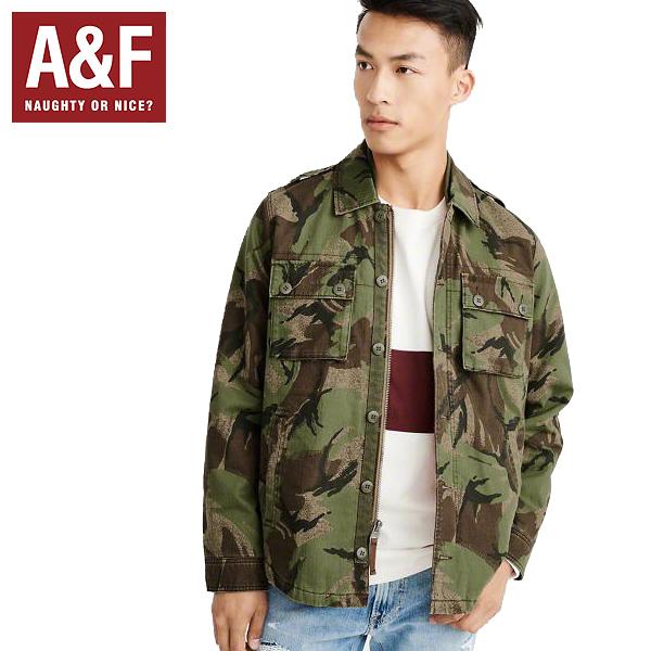 Abercrombie&Fitchアバクロンビーアンドフィッチ正規品メンズミリタリーシャツジャケットアウターMilitary Shirt Jacket迷彩Olive Green Camoカモ柄132-327-0494-336インポートブランド海外買い付け正規[1218]