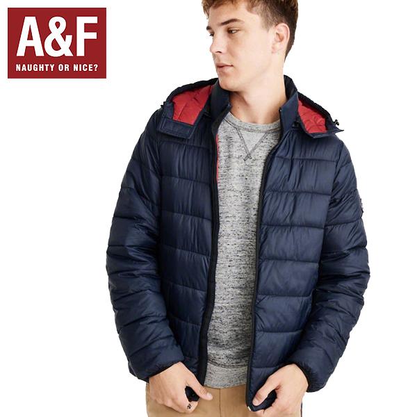 Abercrombie & Fitchアバクロンビーアンドフィッチ正規品メンズライトダウンジャケットアウターThe A&FパッカブルRemovable Hood Packable Pufferブラック132-327-0472-200インポートブランド海外買い付け正規[1218]
