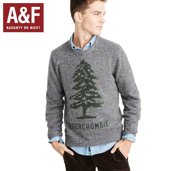 Abercrombie & Fitchアバクロンビーアンドフィッチ正規品メンズセーター ニット ロゴHeritage Logo Sweaterグレー120-201-1537-120インポートブランド海外買い付け正規[0119]