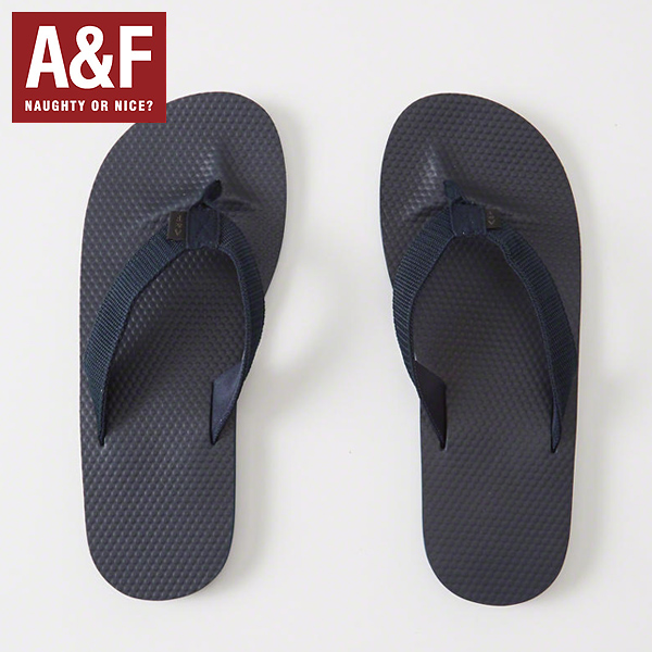 d71ee506003d7 Abercrombie   Fitch アバクロンビーアンドフィッチ regular article men sandals Mixed Media  Rubber Flip Flops (NAVY) beach sandal B sun 112-147-0288-200 0717
