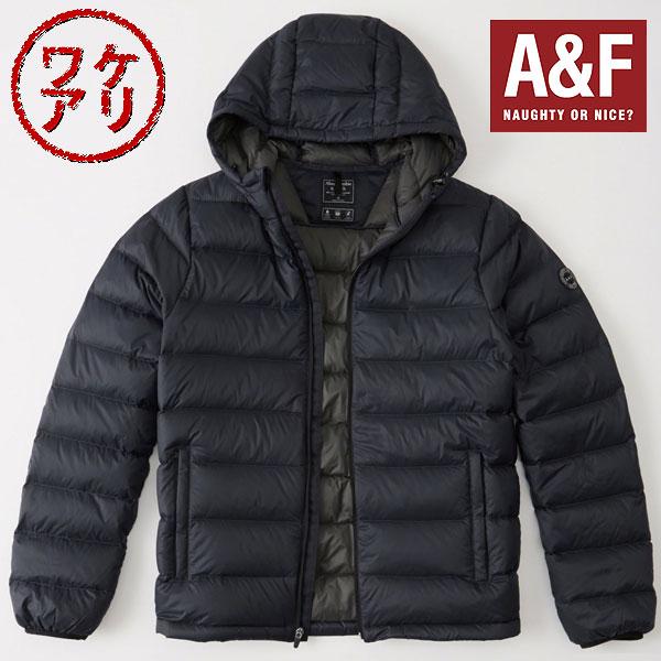 【ワケアリ】Abercrombie & Fitchアバクロンビーアンドフィッチ正規品メンズ ライトウェイトダウンLightweight Hooded Puffer インポートブランド海外買い付け【あす楽対応】[0318]