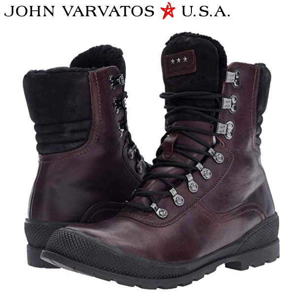 John Varvatos ジョン バルベイトス メンズブーツ 編み上げMen's Heyward Hiker Winter Boot内側ボア インポートブランド海外買い付け