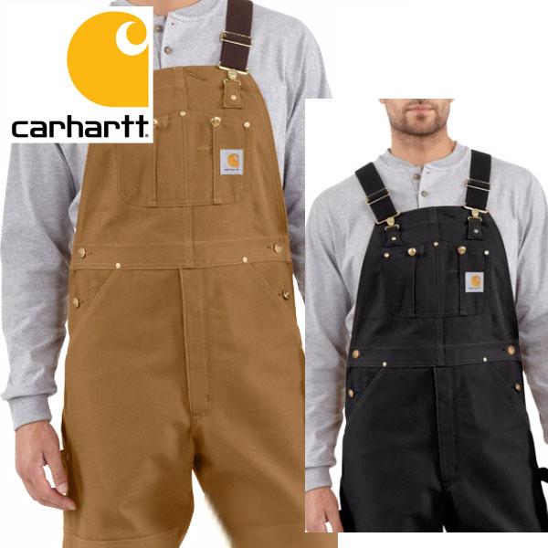 [再入荷]Carhartt カーハート正規品Men's Duck Bib Overall R01ブラウン ダック ビブ オーバーオール USA企画サロペット バイク ツーリング 大きなサイズ 海外買い付けワークウェア 作業着 ヒップホップ [0917]