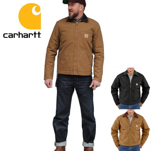 carhartt カーハート正規品ダックデトロイトジャケット カバーオールDUCK DETROIT JACKET / BLANKET LINED ワークジャケット アウターワークウェア 作業着 ヒップホップ J001インポートブランド海外買い付け正規[1217]