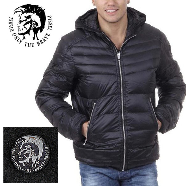 Diesel ディーゼル正規品メンズインポート海外買い付け ダウンジャケット アウターMens Mens R-Azumi Jacket in Blackインポートブランド海外買い付け正規[0219]