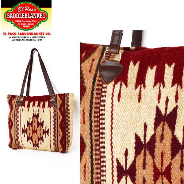 EL PASO SADDLEBLANKET CO  El Paso blanket El Paso chimayo saddle blanket  ELPASO/WOOL Tote MAYA MODERN WOOL TOTE BAG native handle ethnic pattern