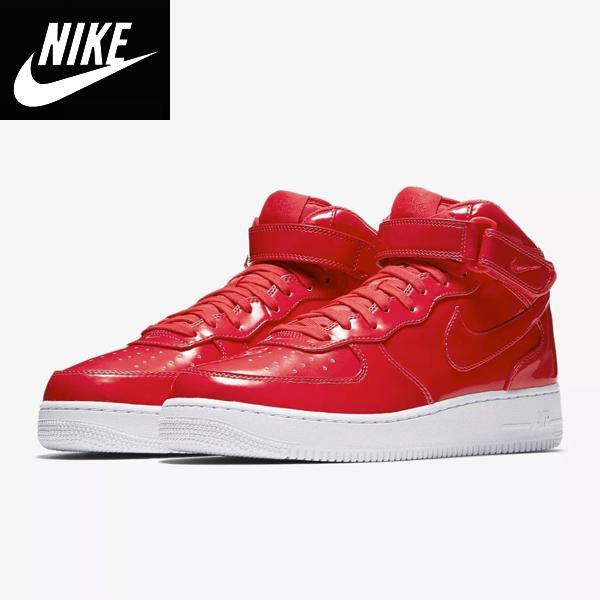 Nike ナイキ正規品スニーカー エアーフォースワンAir Force 1 Mid '07 Lv8 UV メンズPatent Leather PackシューズMen's Shoes AO0702600レッド[箱なし]並行輸入インポートブランド海外買い付け[0219]