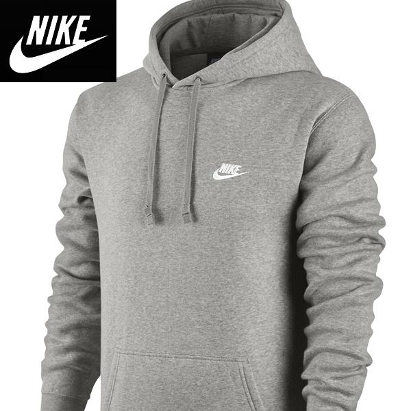 Nikeナイキ正規品プルオーバーパーカー フーディ Club Pullover Hoodie Grayグレー804346-063並行輸入インポートブランド海外買い付け[0319]