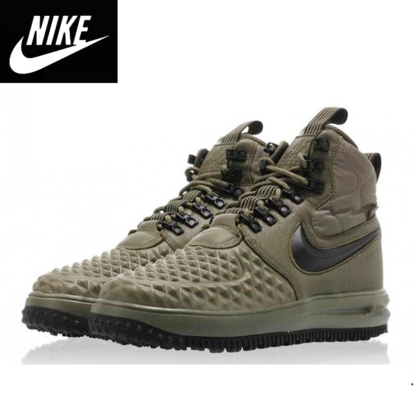 Nikeナイキ正規品スニーカールナフォースワン ダックブーツ Lunar Force 1 Duckboot 17 medium olive/ black-wolf grey オリーブ並行輸入インポートブランド海外買い付け[0319]