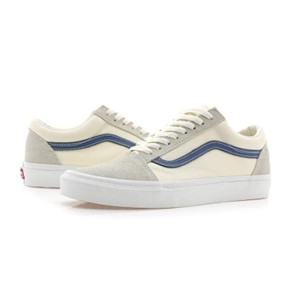 VANS vans station wagons OLD SKOOL old school VN0A38G1QKK sneakers Vintage White Vintage Indigo import brand 10.5inc28.5cm[0218]