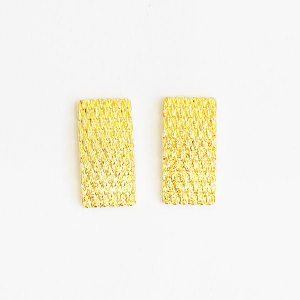 スタッズやストーンと合わせても 日本正規代理店品 SHAREYDVA シャレドワ ネイルパーツ メッシュモロッコ ネイル レクタングル ゴールド 8P 贈答