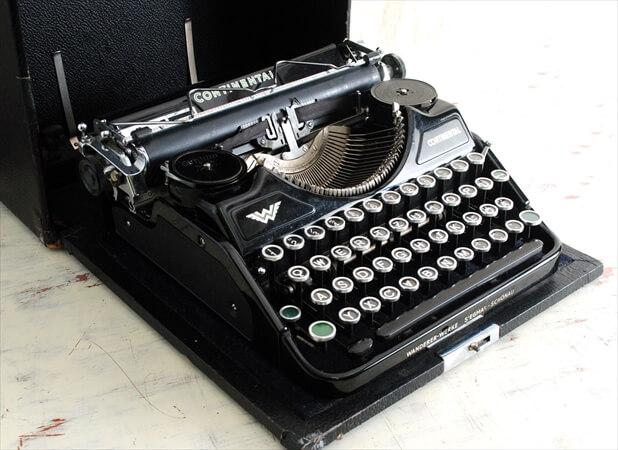 【中古】 ドイツ製 WANDERER WERKE CONTINENTAL タイプライター アンティーク ヴィンテージ ディスプレイ 什器