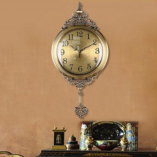 連続秒針 壁掛け時計 アンティーク ウォールクロック 掛け時計 オシャレ おしゃれ インテリア 時計 北欧 レトロ アイアン 音がしない 振り子