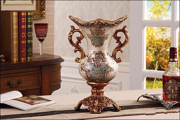 花瓶 花器 フラワーペース 花入れ 大きな アンティーク おしゃれ 置物 オブジェエレガントなコンポート